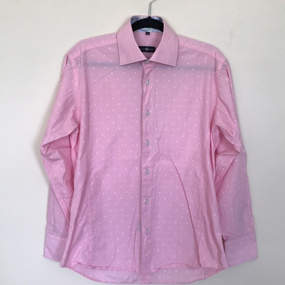 Stone Rose Tops - STONE ROSE tiny polka dot button up shirt-size 3/M